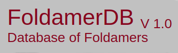 FoldamerDB: A database of foldamers